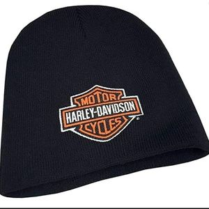 Harley Davidson Embroidered Bar & Shield Knit Bean